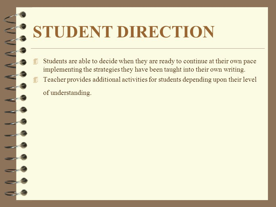 STUDENT DIRECTION