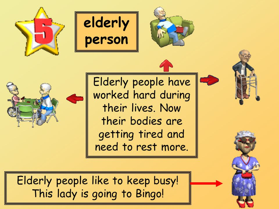 Elderly people like to keep busy! This lady is going to Bingo!