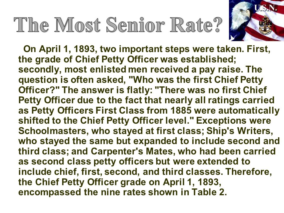 The Most Senior Rate
