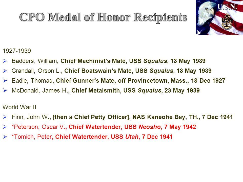 CPO Medal of Honor Recipients