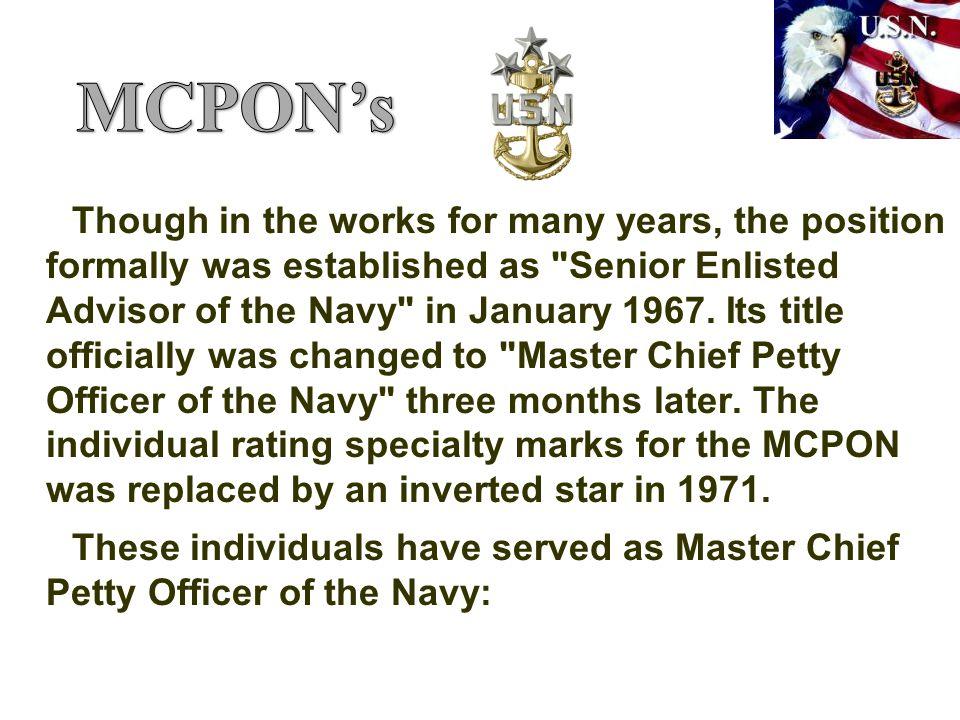 MCPON's