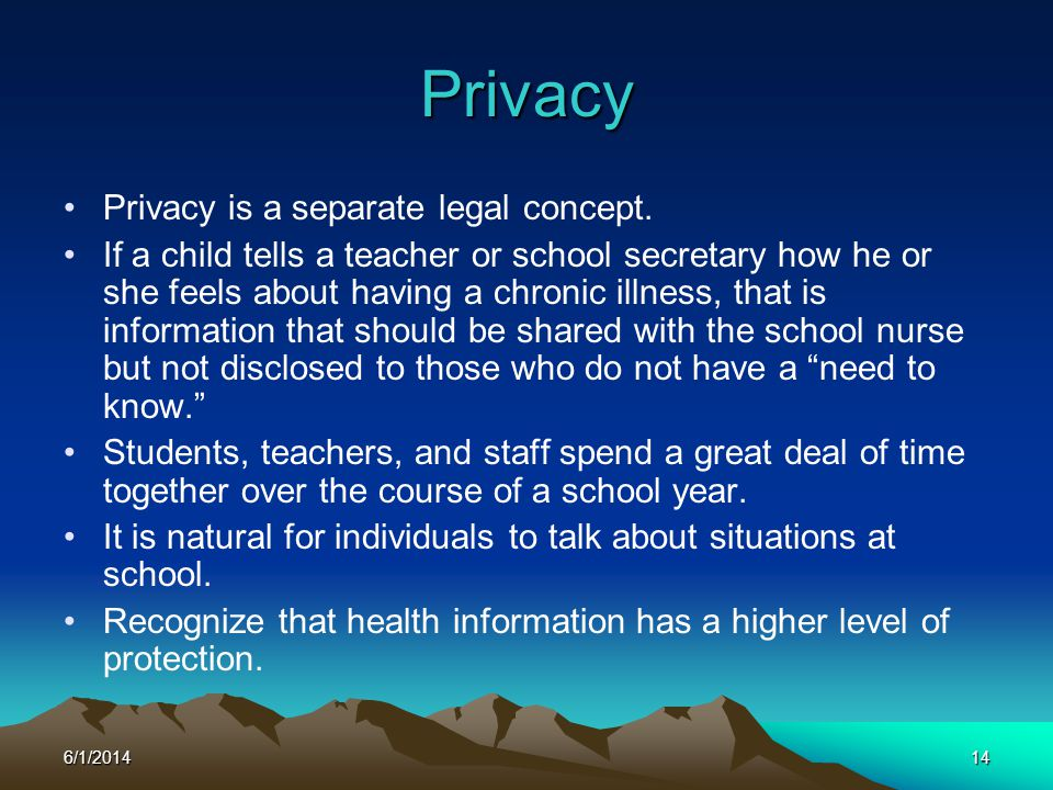 Privacy Privacy is a separate legal concept.