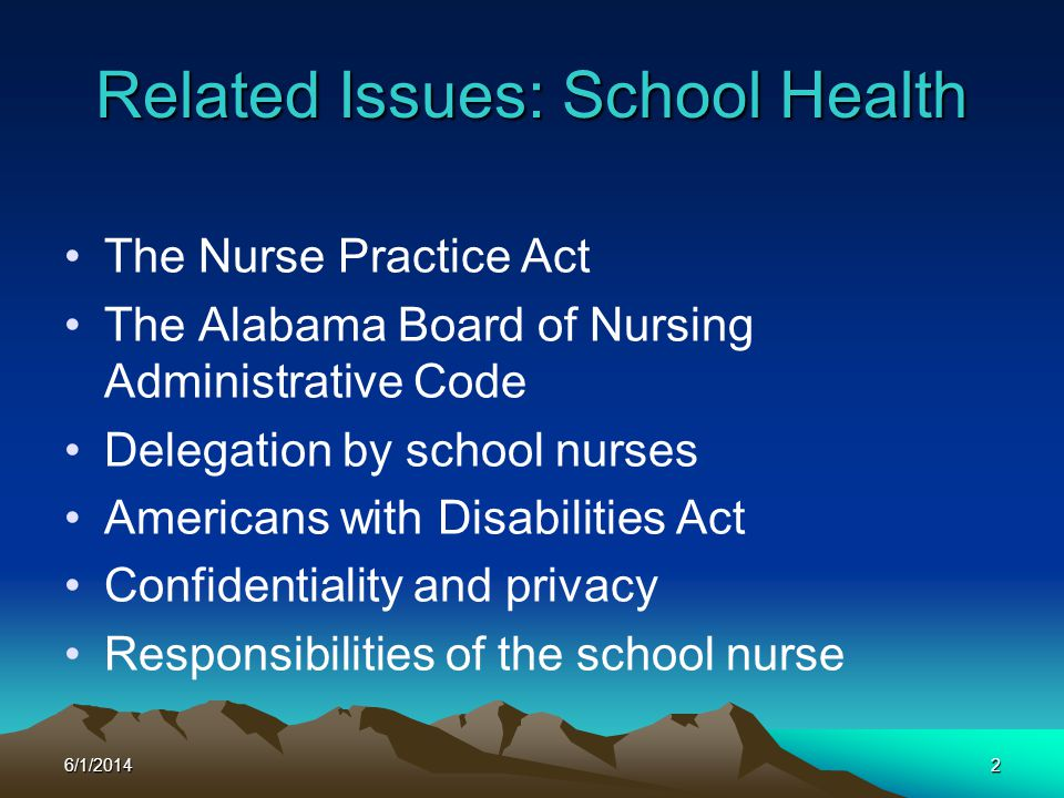 Related Issues: School Health