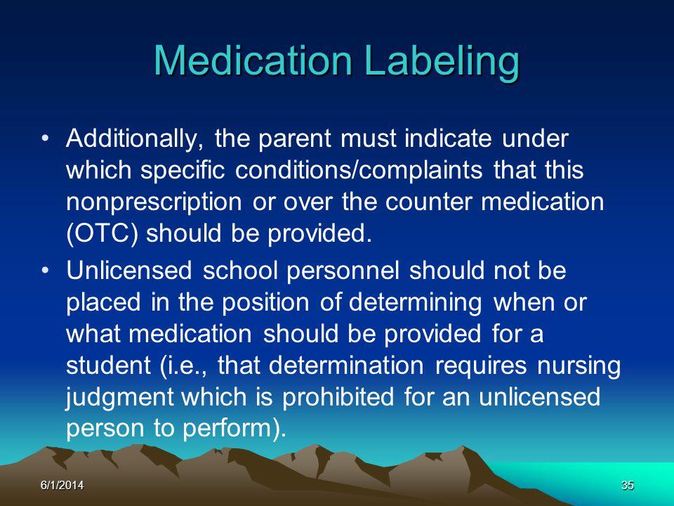 Medication Labeling