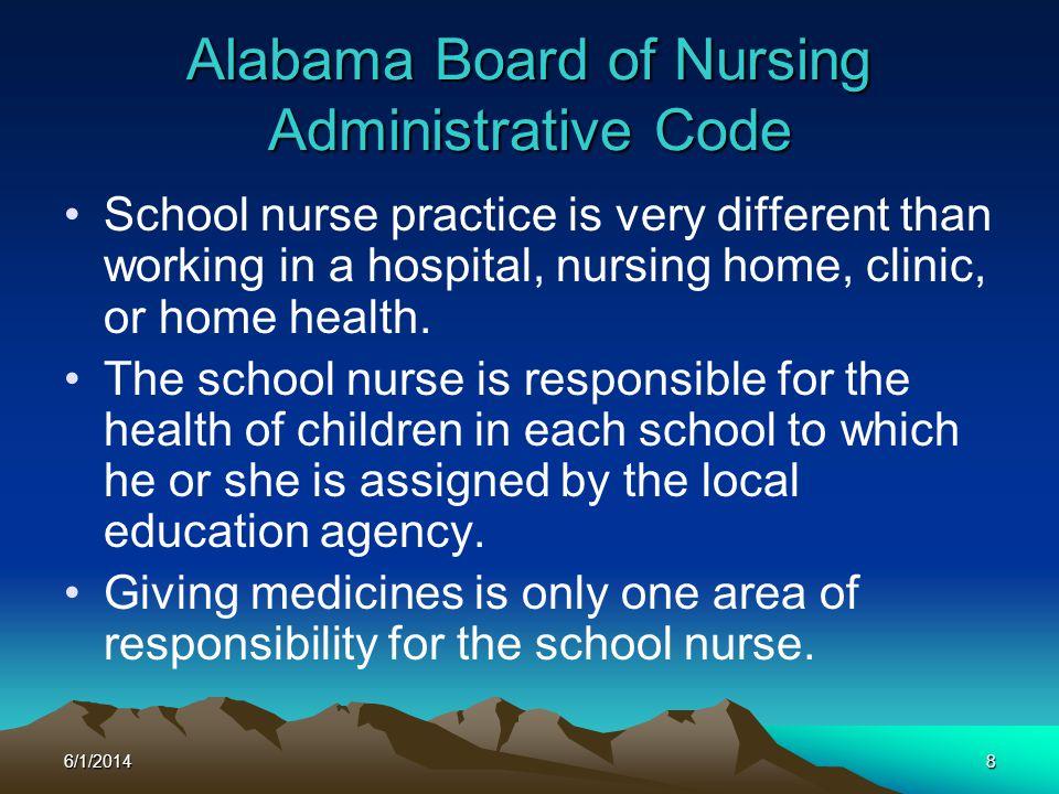Alabama Board of Nursing Administrative Code