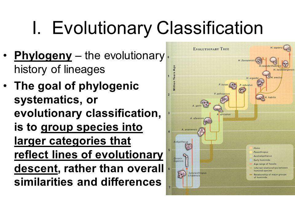 I. Evolutionary Classification