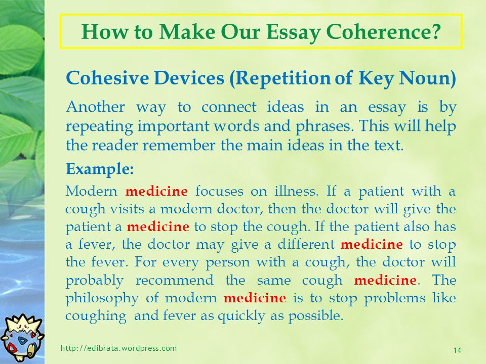 How to Make Our Essay Coherence