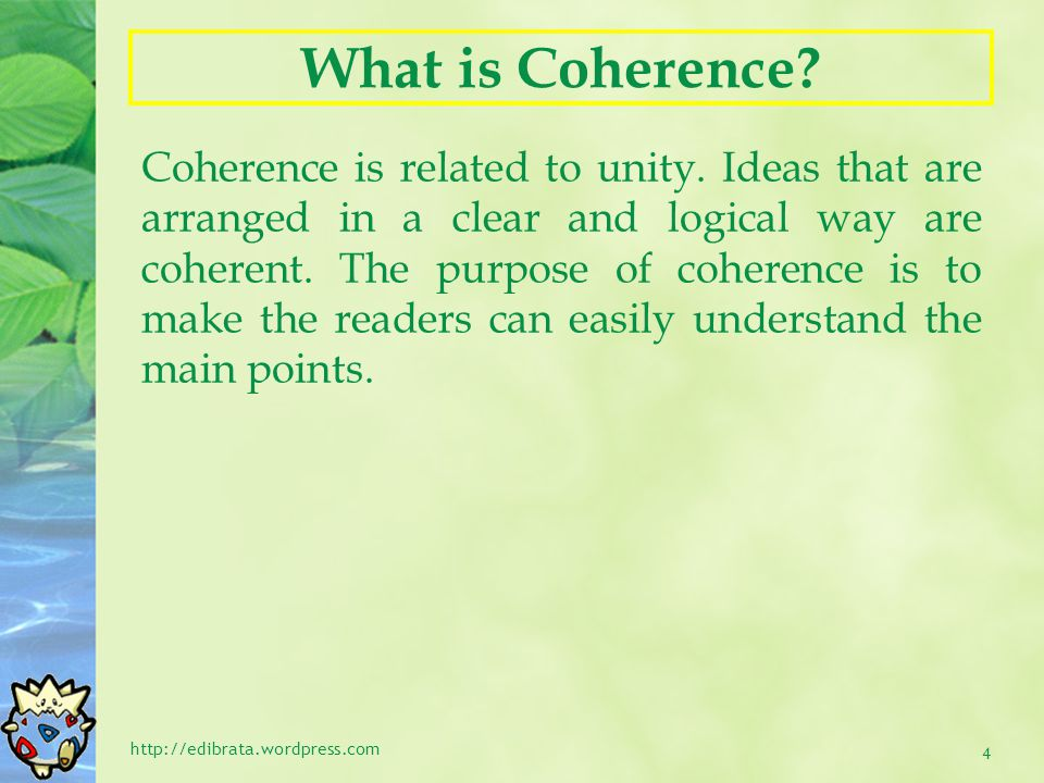 What is Coherence