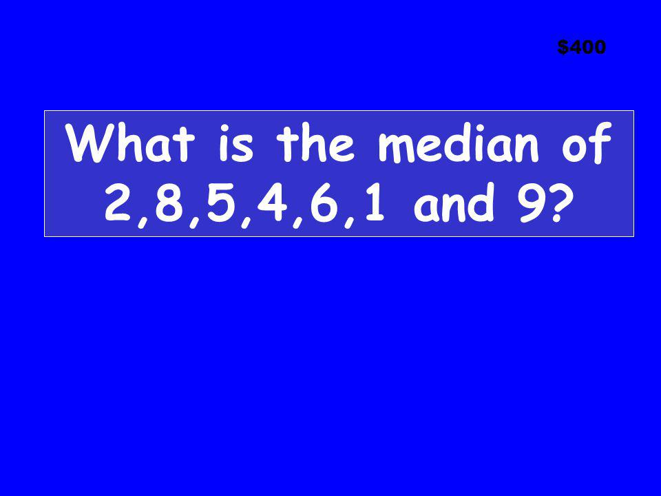 What is the median of 2,8,5,4,6,1 and 9