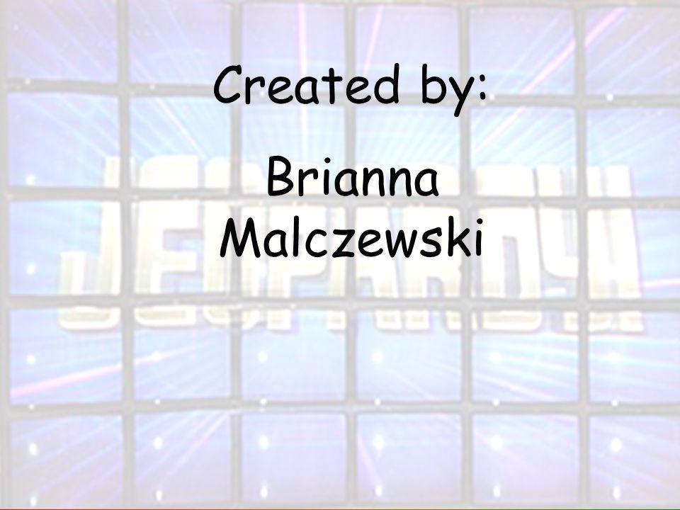 Created by: Brianna Malczewski
