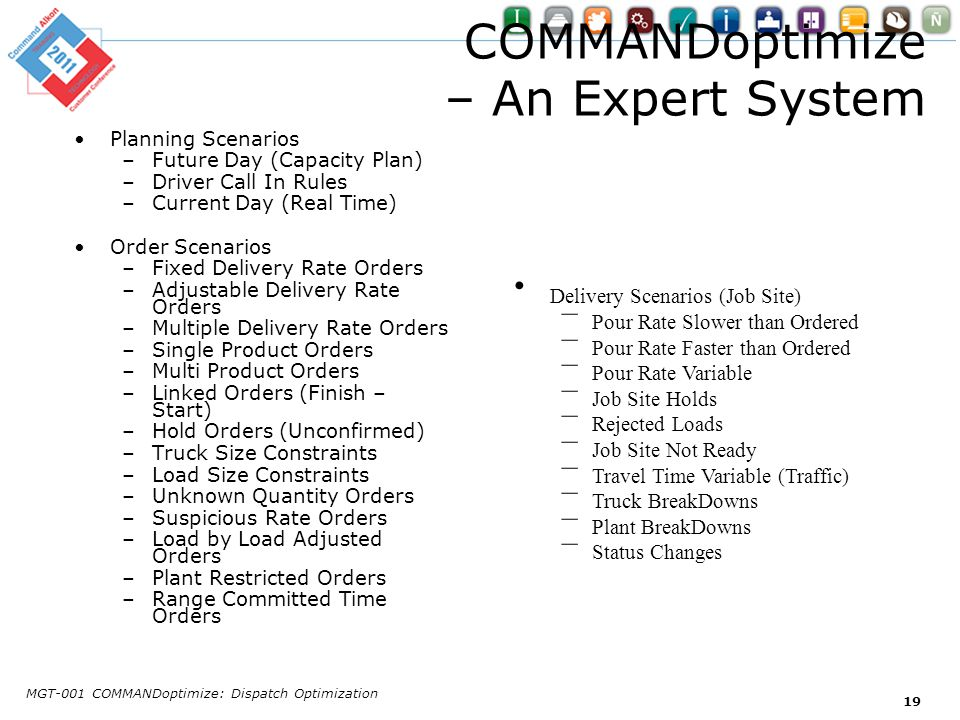 COMMANDoptimize – An Expert System