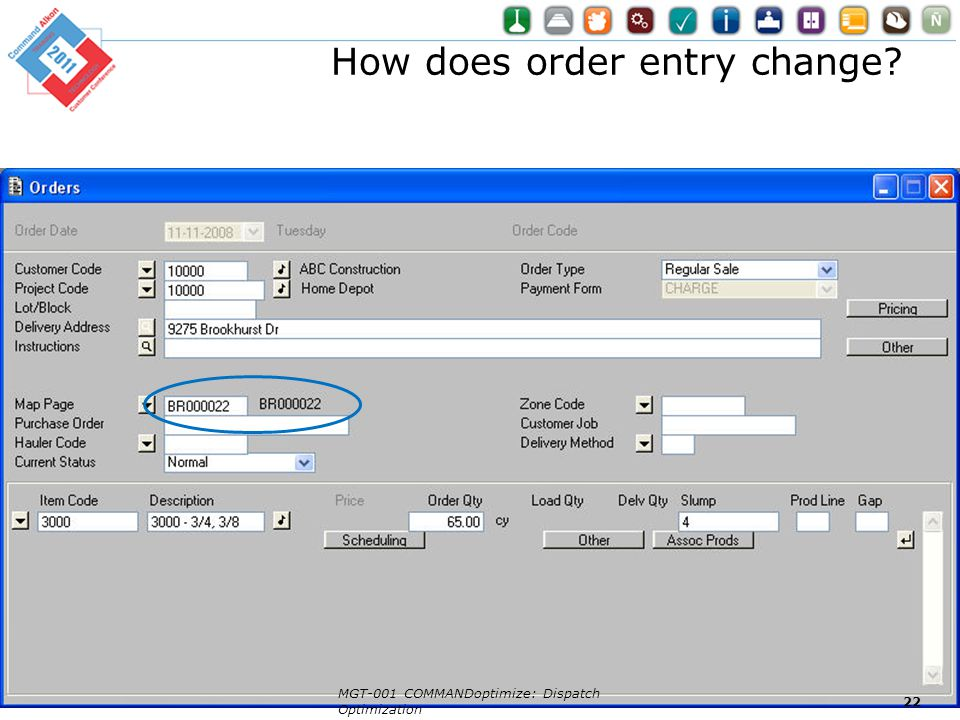 How does order entry change