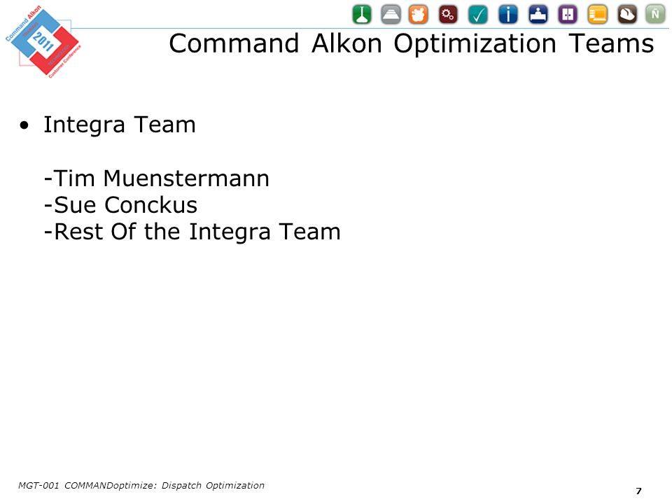 Command Alkon Optimization Teams