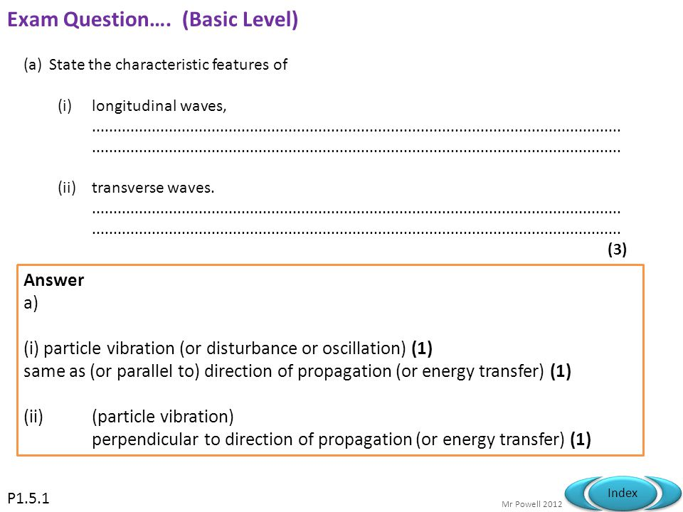 Exam Question…. (Basic Level)