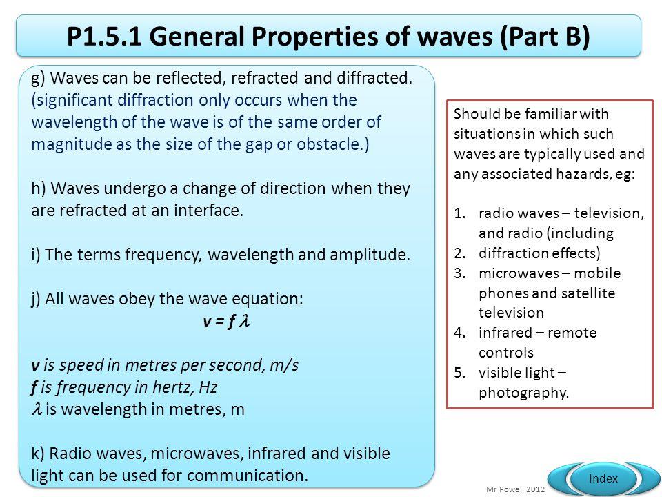 P1.5.1 General Properties of waves (Part B)
