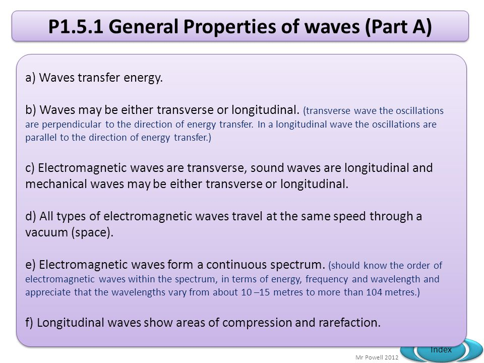 P1.5.1 General Properties of waves (Part A)