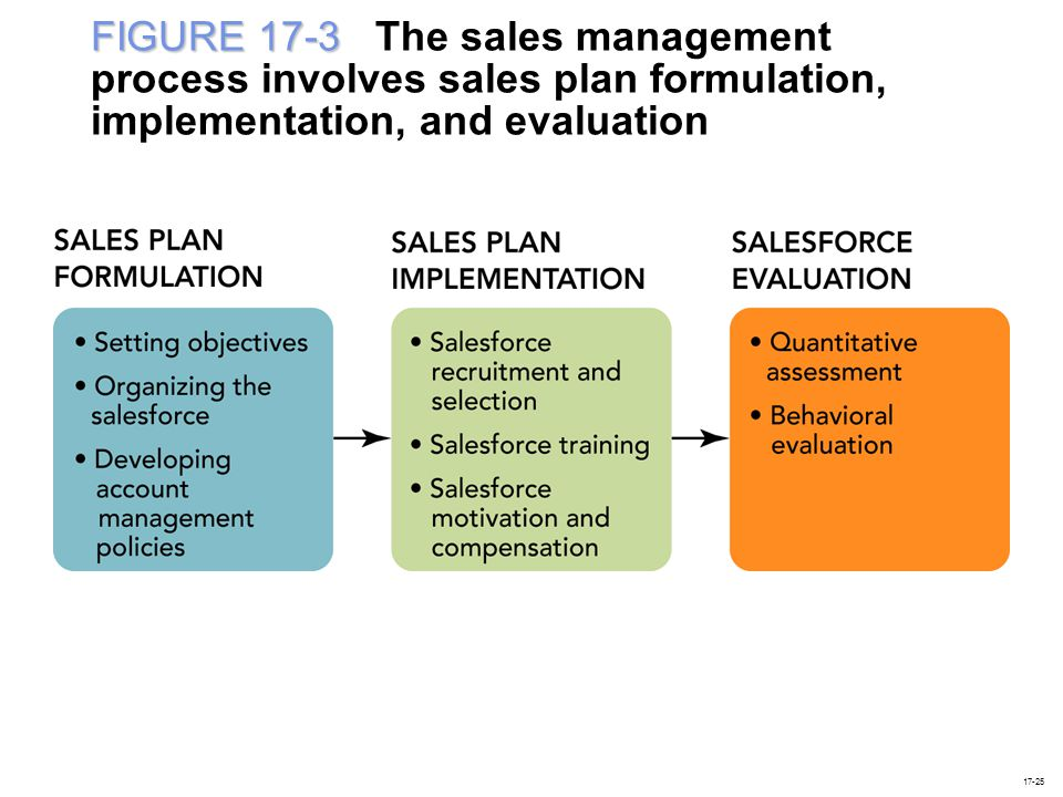 FIGURE 17-3 The sales management process involves sales plan formulation, implementation, and evaluation