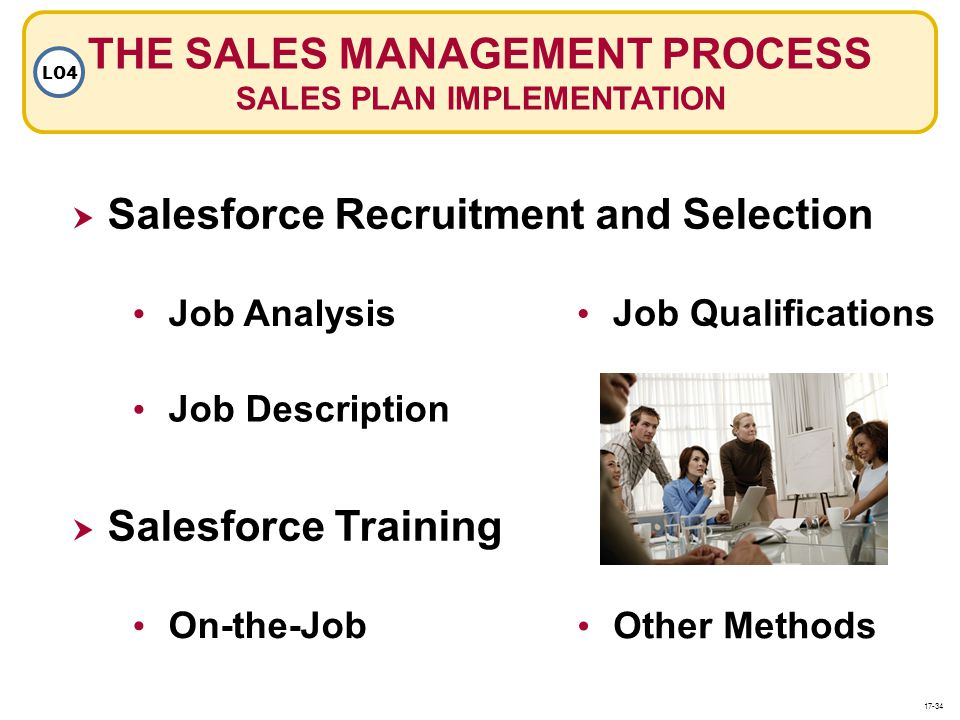 THE SALES MANAGEMENT PROCESS SALES PLAN IMPLEMENTATION
