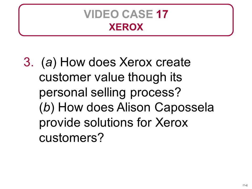 VIDEO CASE 17 XEROX.