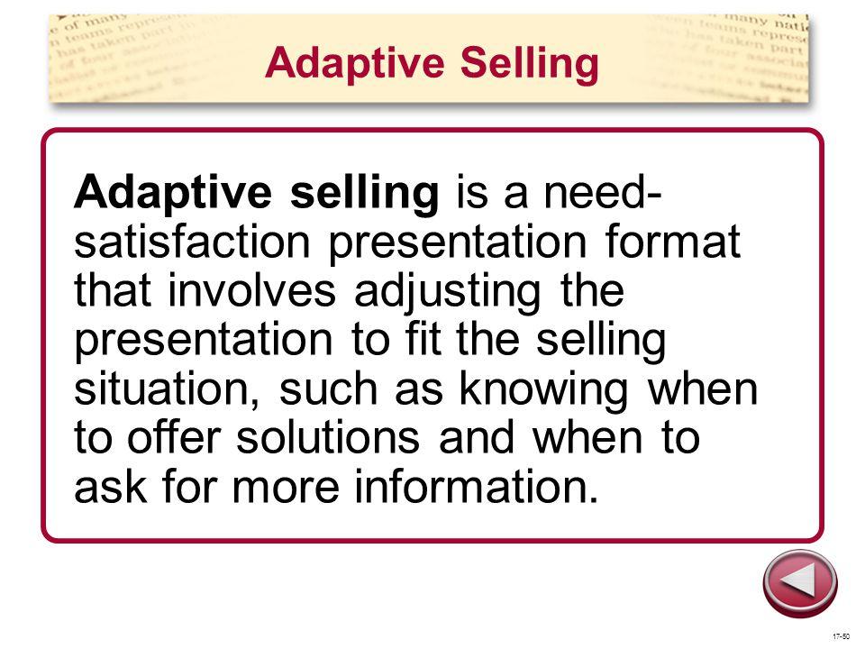 Adaptive Selling