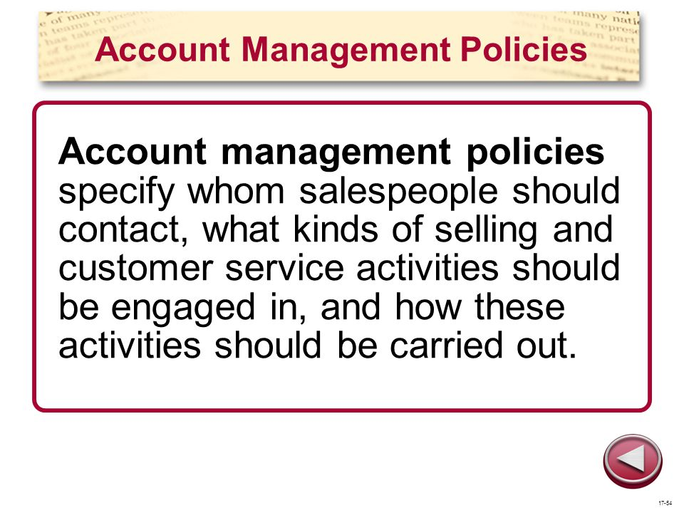 Account Management Policies
