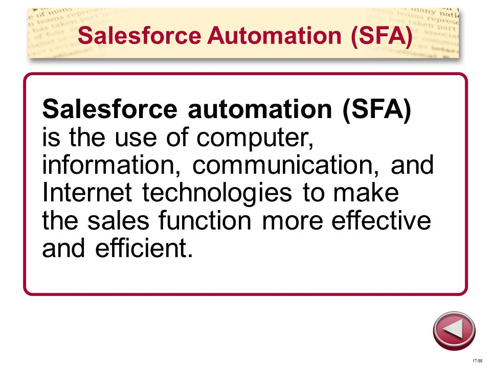 Salesforce Automation (SFA)