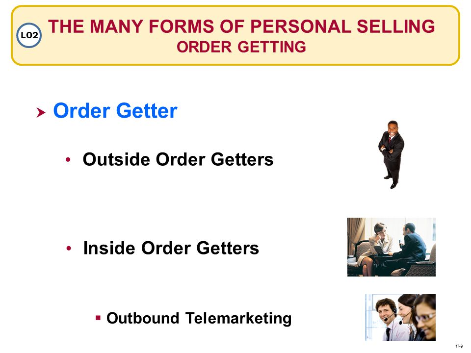 THE MANY FORMS OF PERSONAL SELLING