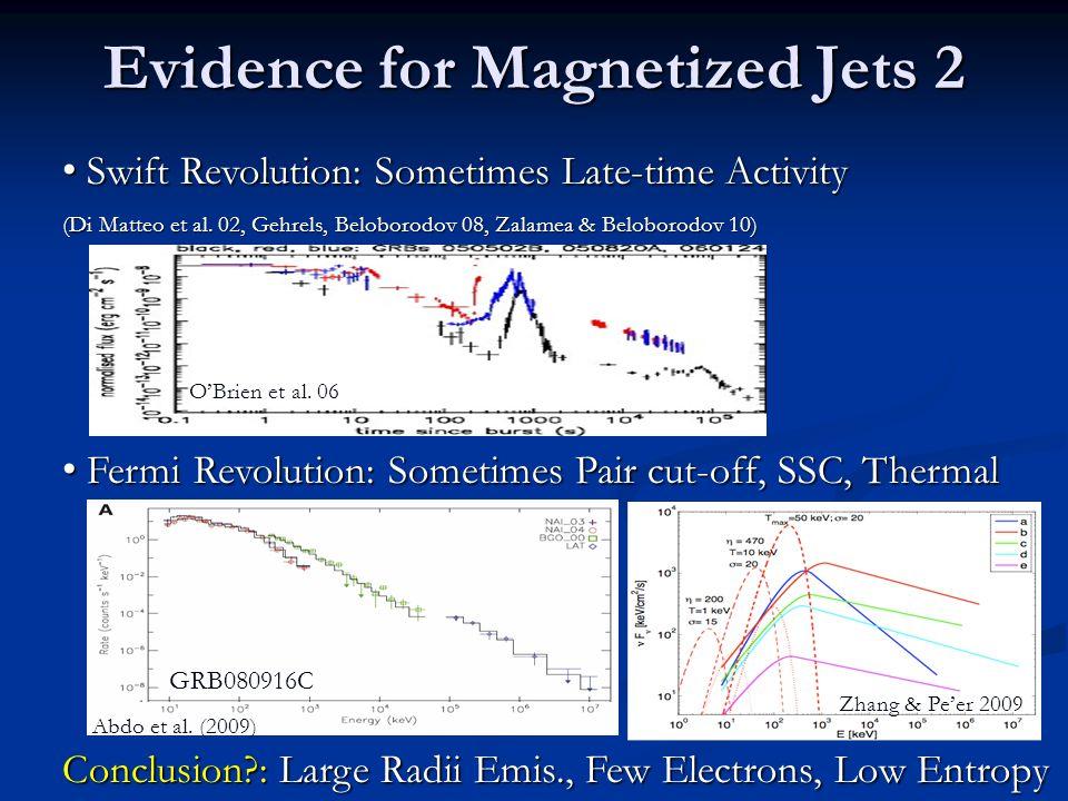 Evidence for Magnetized Jets 2