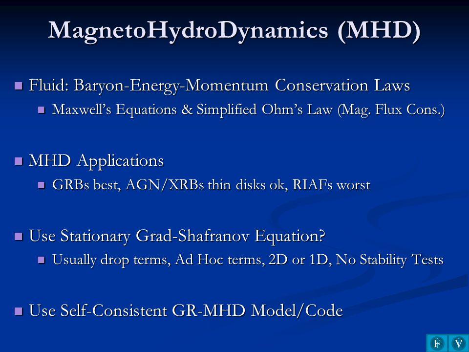 MagnetoHydroDynamics (MHD)