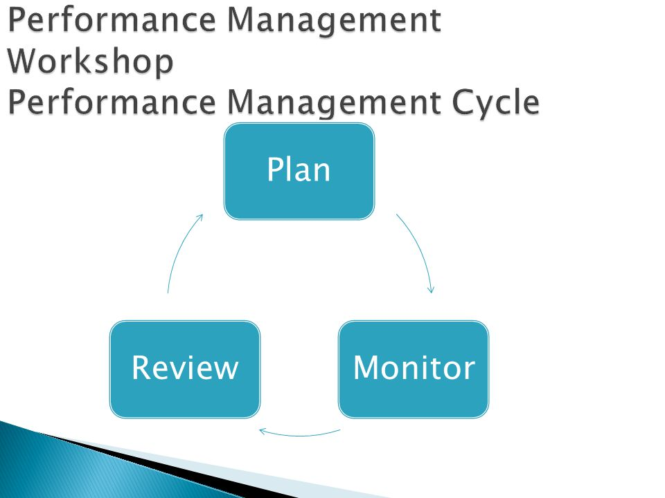 Performance Management Workshop Performance Management Cycle