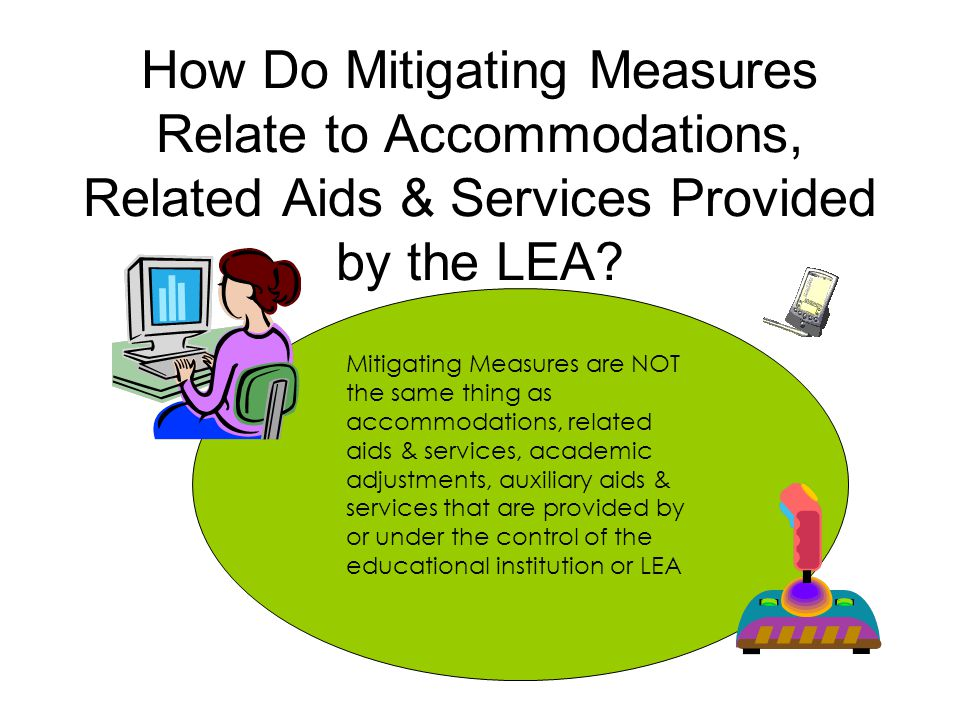 How Do Mitigating Measures Relate to Accommodations, Related Aids & Services Provided by the LEA