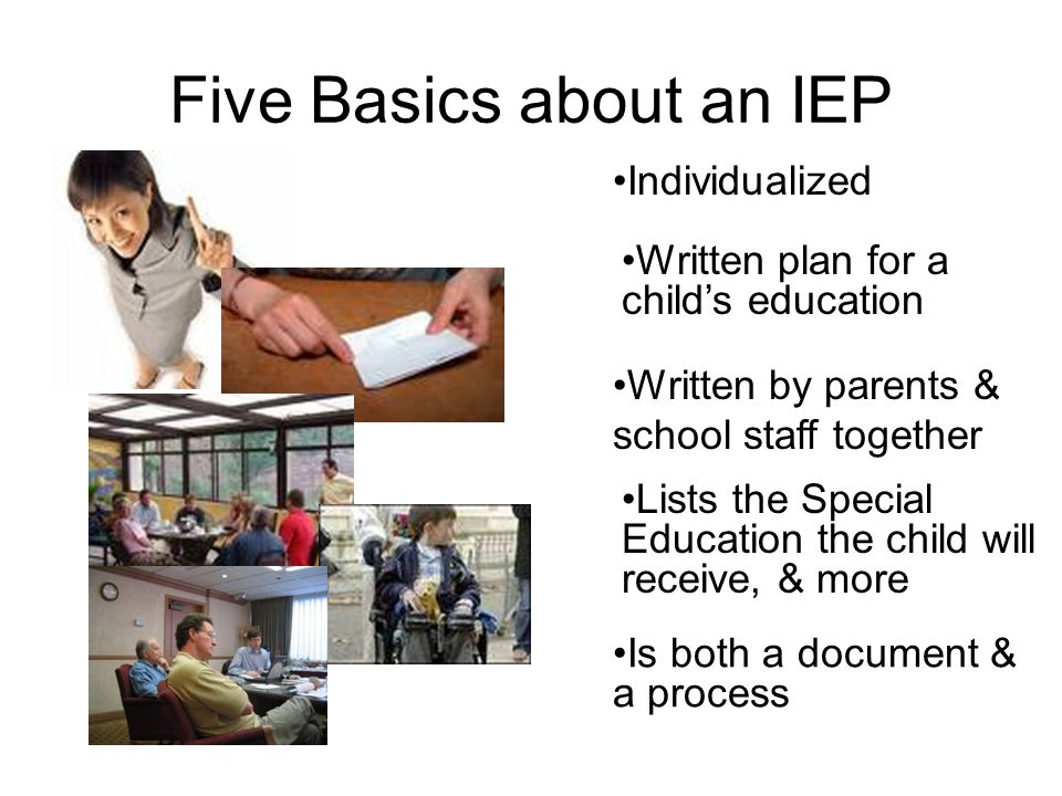 Five Basics about an IEP