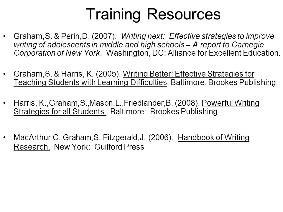 Training Resources