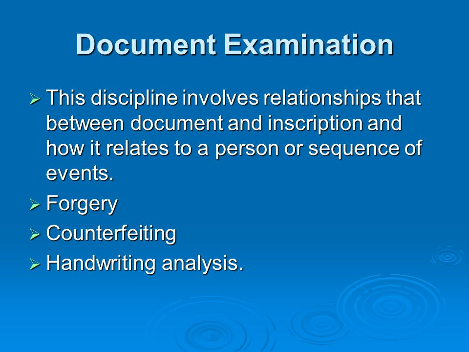 Document Examination