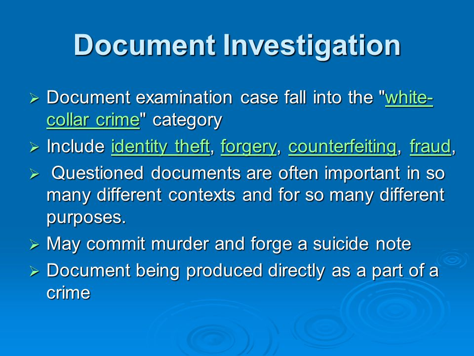 Document Investigation