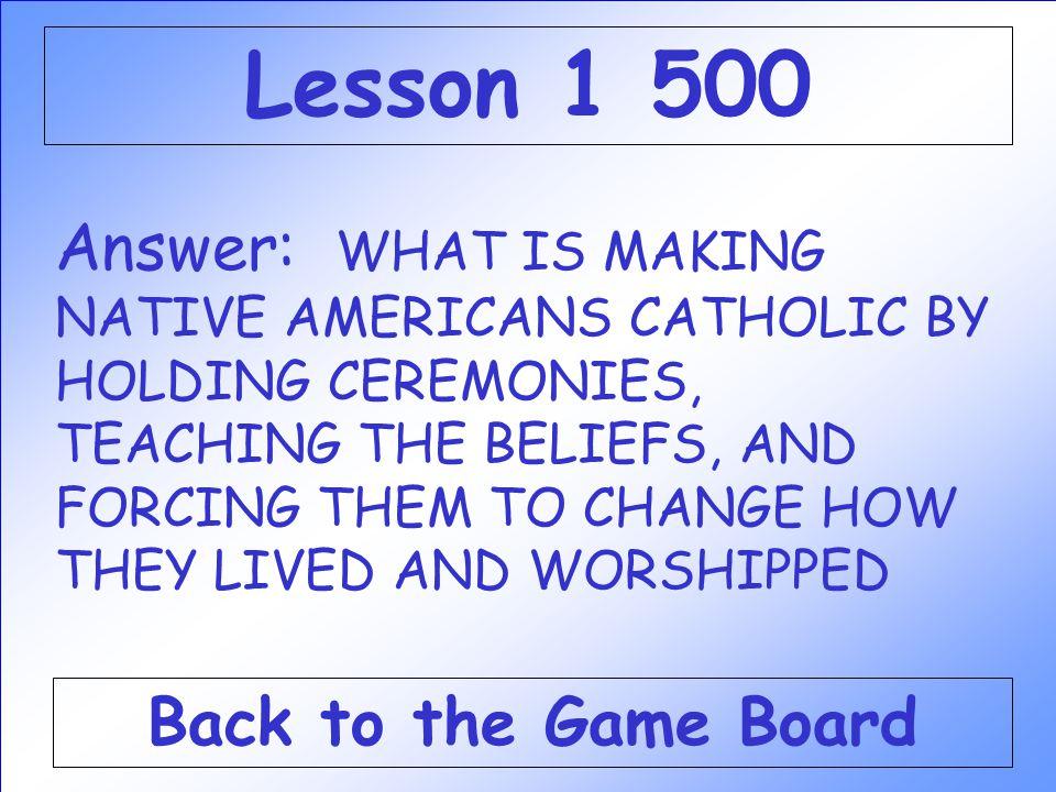 Lesson 1 500