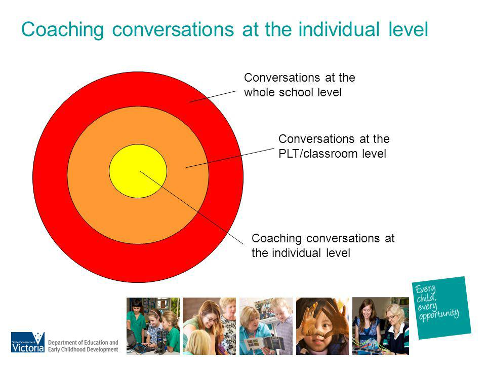 Coaching conversations at the individual level
