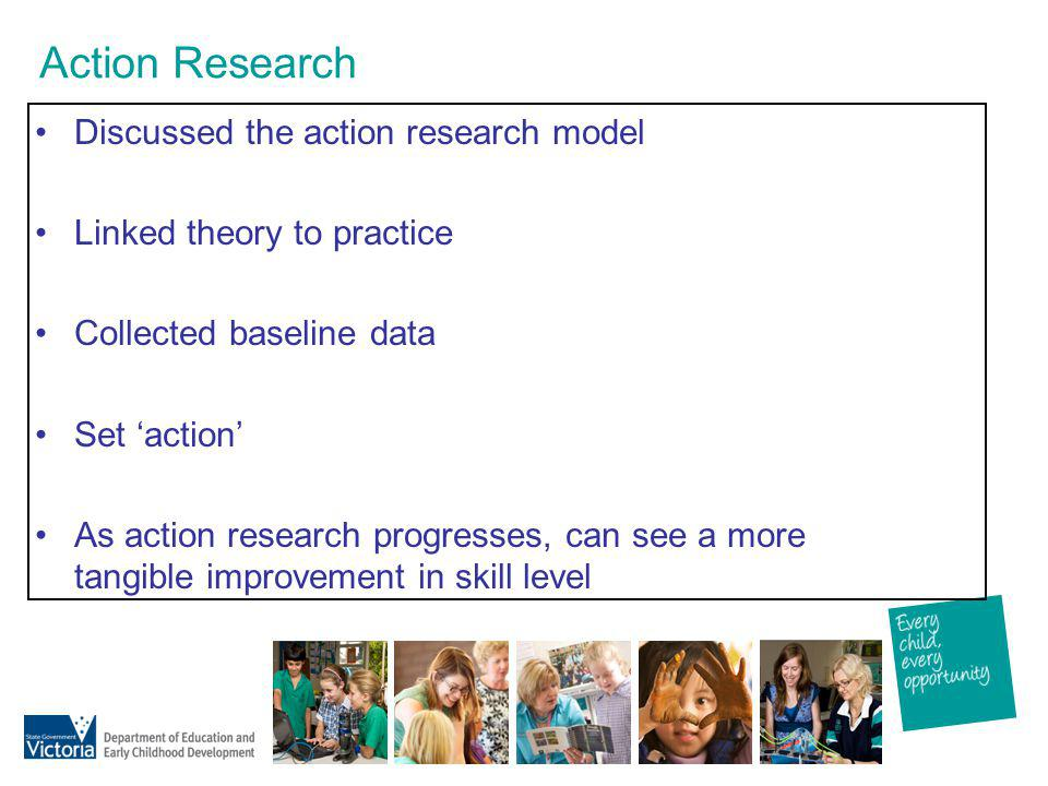 Action Research Discussed the action research model