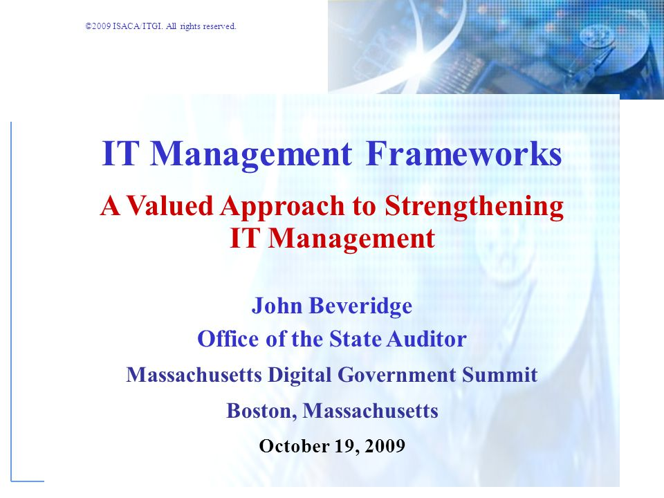 IT Management Frameworks