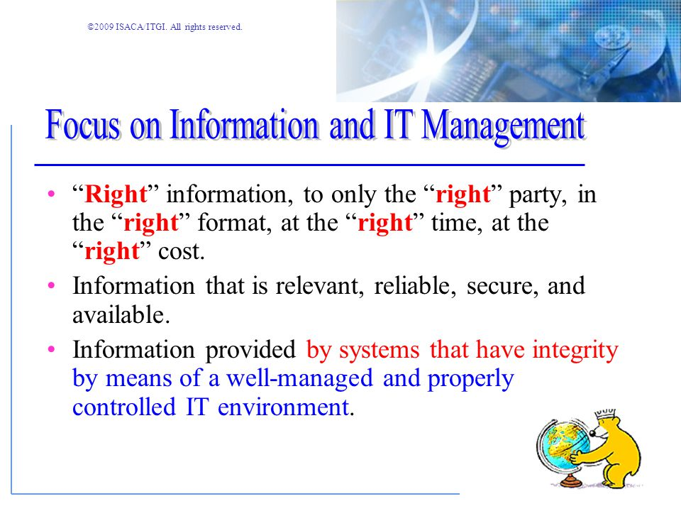 Focus on Information and IT Management