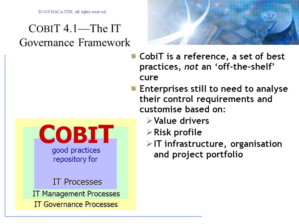 COBIT 4.1—The IT Governance Framework