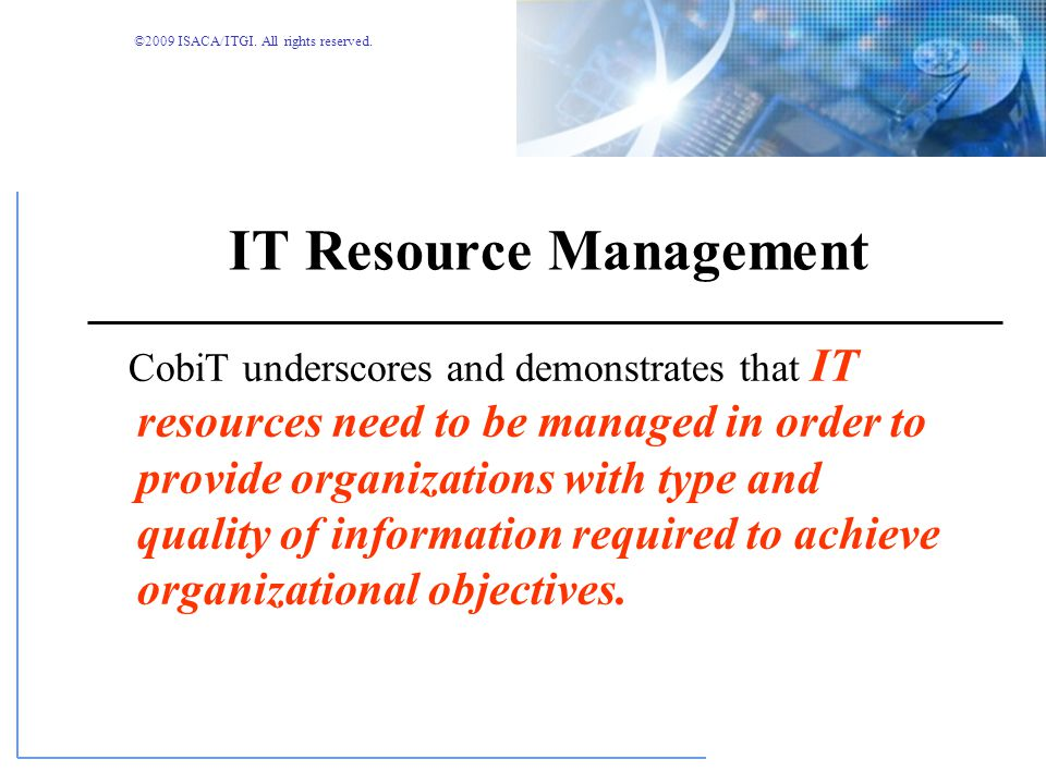 IT Resource Management