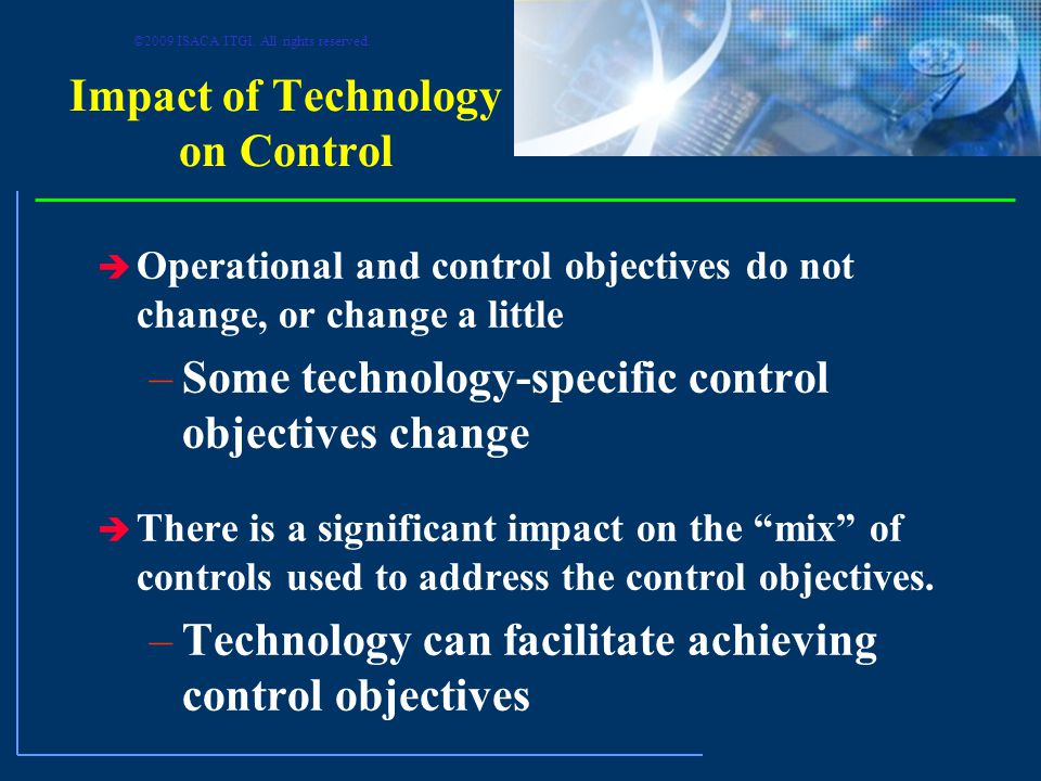 Impact of Technology on Control