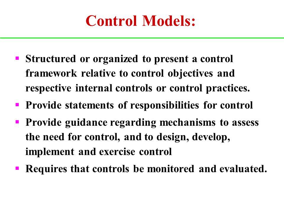 Control Models: