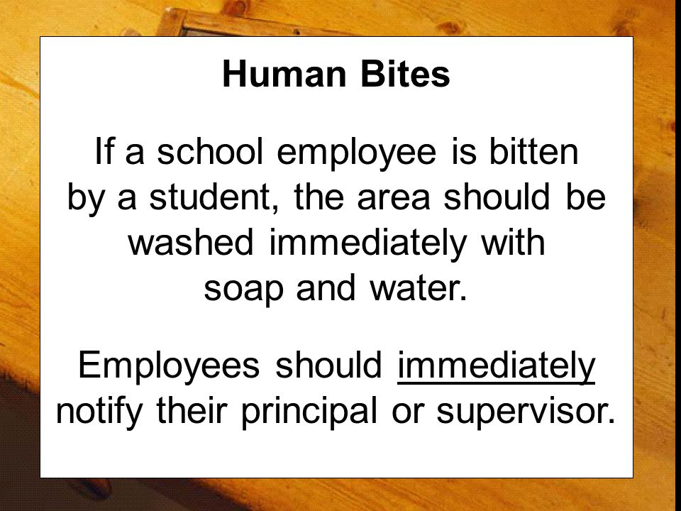 Employees should immediately notify their principal or supervisor.