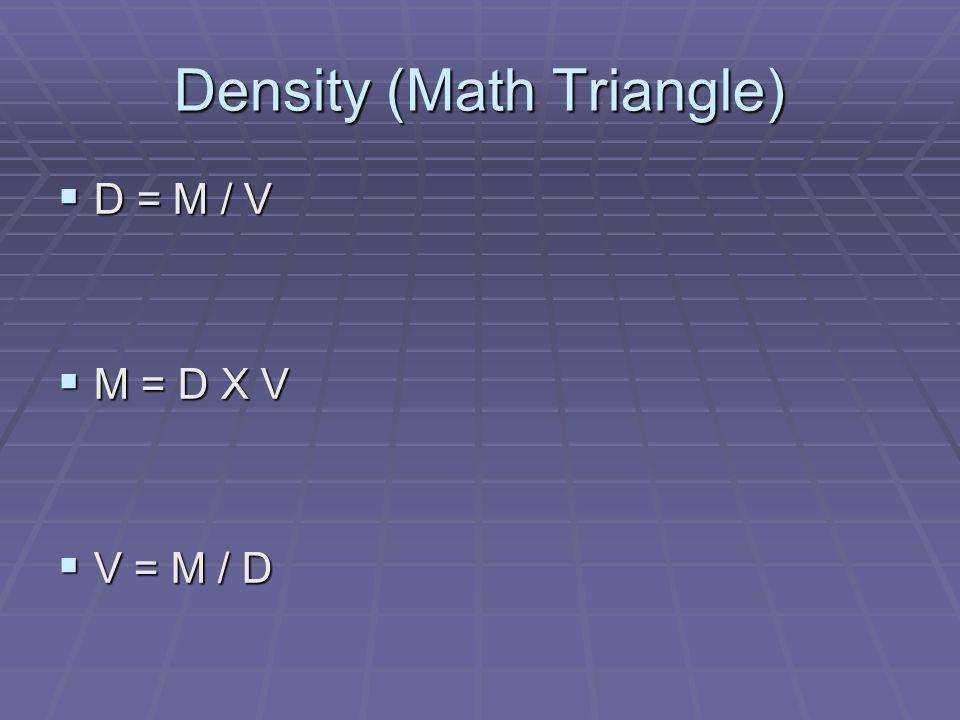 Density (Math Triangle)