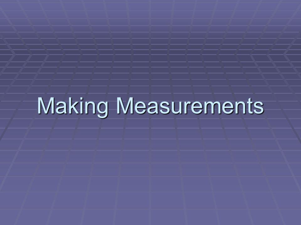 Making Measurements