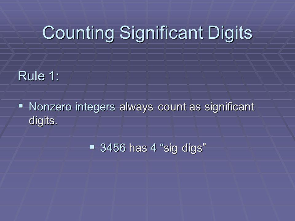 Counting Significant Digits