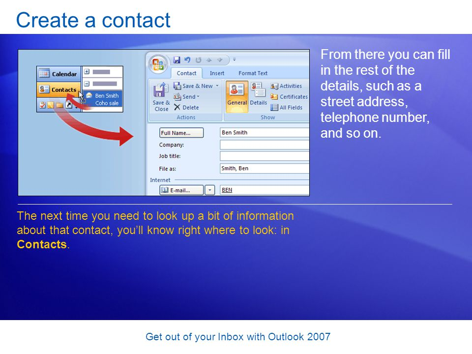 Get out of your Inbox with Outlook 2007