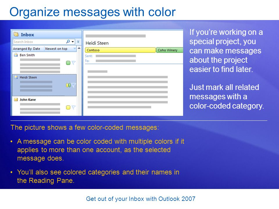 Organize messages with color